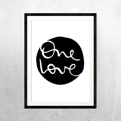 One Love - Print - One Tiny Tribe  - 1