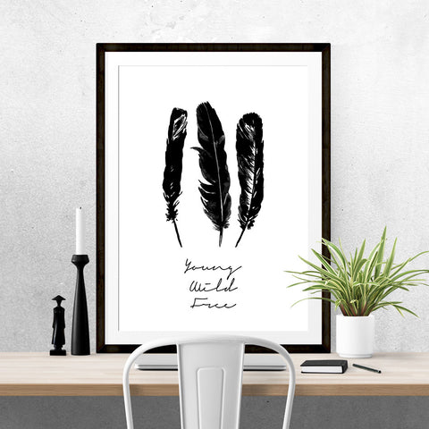 Personalised Feathers - Print - One Tiny Tribe  - 1