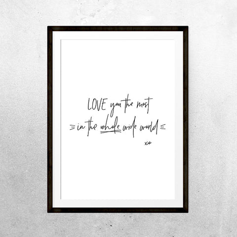 Whole wide world - Printable - One Tiny Tribe  - 1
