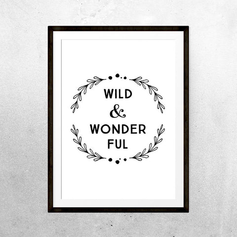 Wild & Wonderful - Print - One Tiny Tribe  - 1