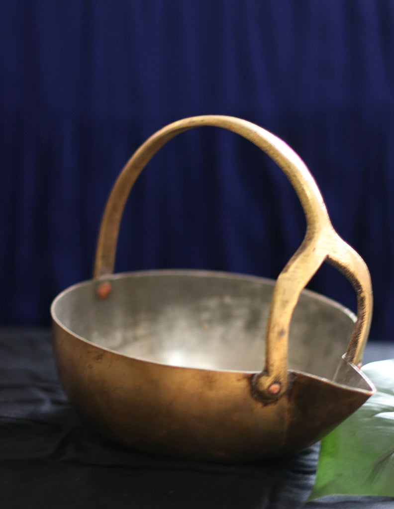 Vintage Brass Serving Pot : The Story Of Gokarnam