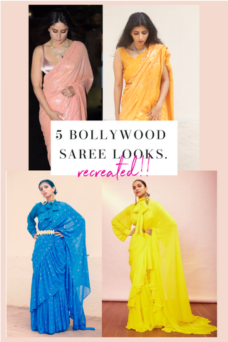 5 bollywood saree looks for less
