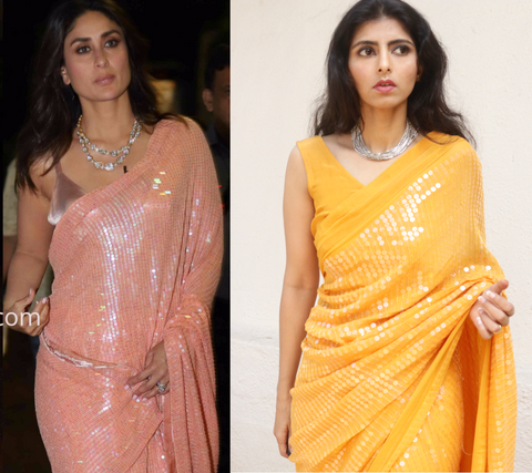 Kareena kapoor sabyasachi sequin saree