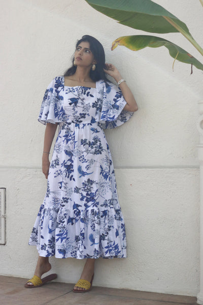 The Floral Frill Cotton Dress : Buy Cotton Dress