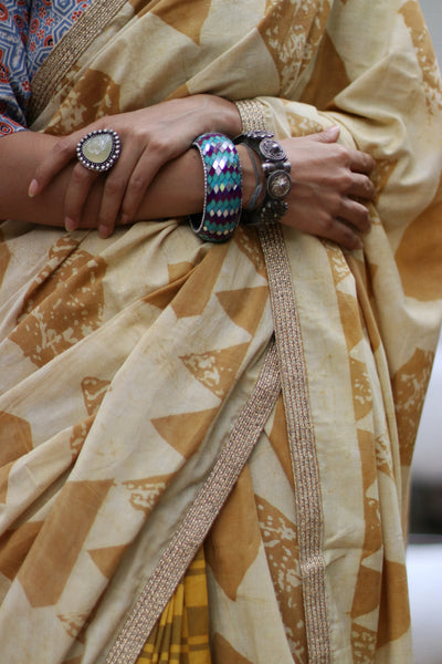 Haldi On My Hands : Cotton Saree