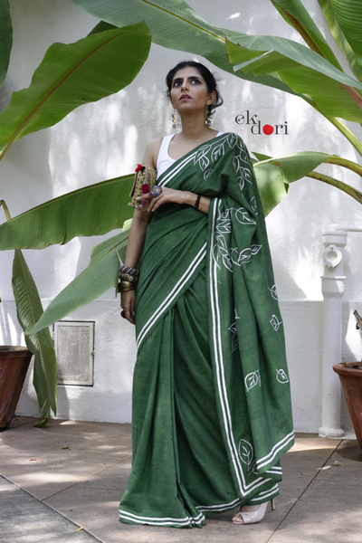 Buy Khadi Sarees Online : Khadi Saree Collection : Dharti Khadi Sari