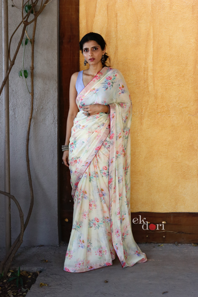 Buy Designer Saree Online : Tea Party Crepe Silk Saree