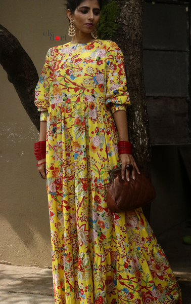 Boho Princess : Festive Cotton Maxi Dress