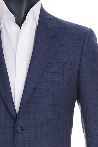 Men's Blue Windowpane Suit | Coppley | Haberdasher & Co. | Vancouver, BC