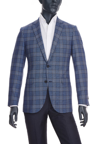 Men's Blue Plaid Sport Coat | Paul Betenly | Haberdasher & Co. | Vancouver, BC