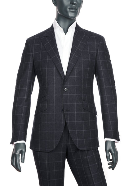 Men's Charcoal Windowpane Suit | Coppley | Haberdasher & Co. | Vancouver, BC