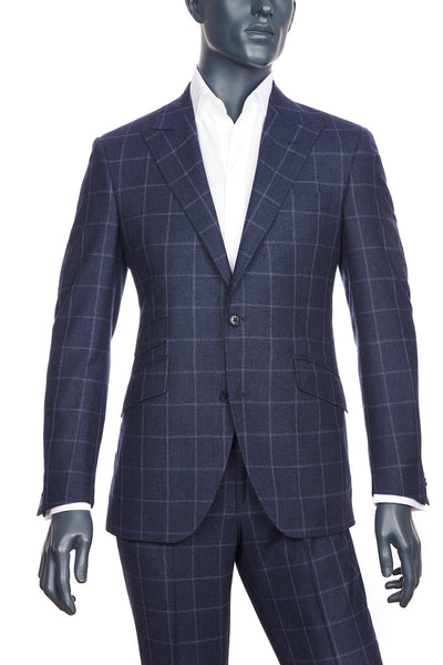 Dark Blue Windowpane Suit | SOLD OUT!