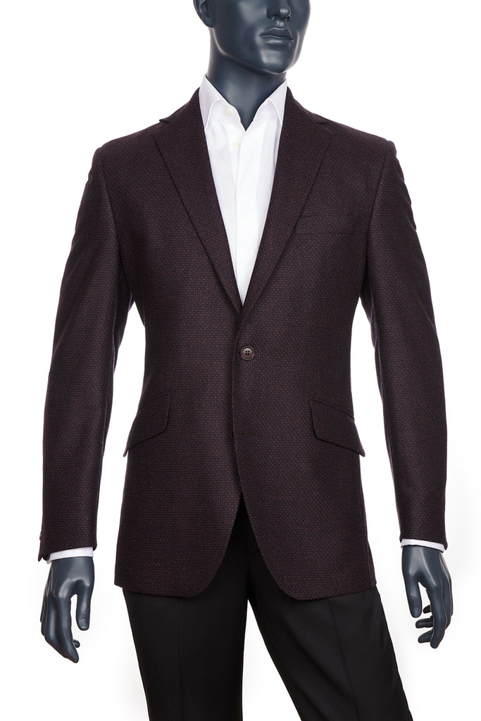 Men's Burgundy Sport Coat | Coppley