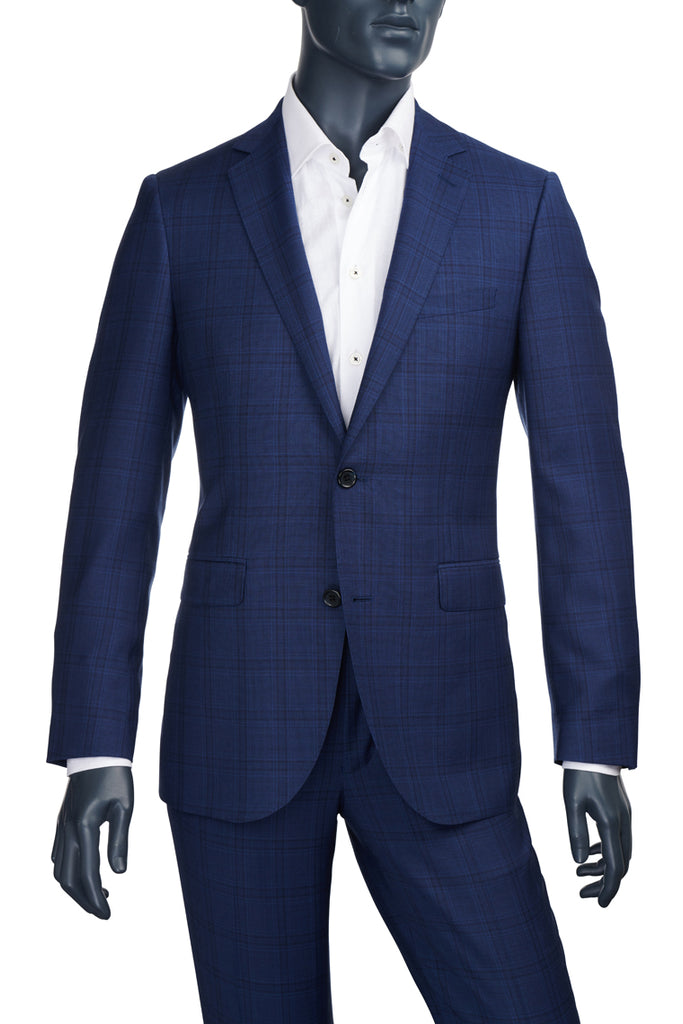 Men's Blue Plaid Suit | Paul Betenly  | Haberdasher & Co. | Vancouver, BC