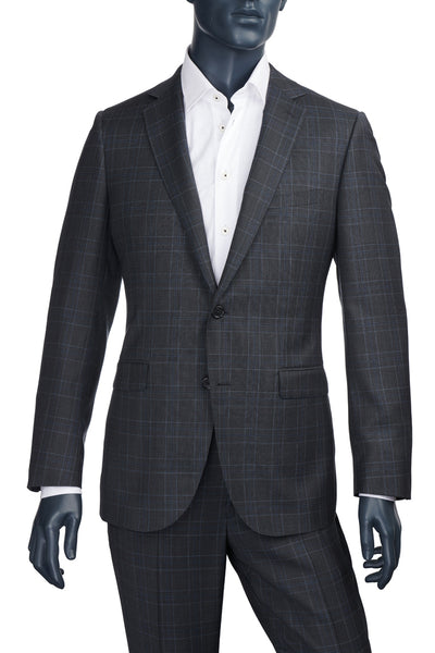 Men's Charcoal Plaid Suit | Paul Betenly | Haberdasher & Co. | Vancouver, BC