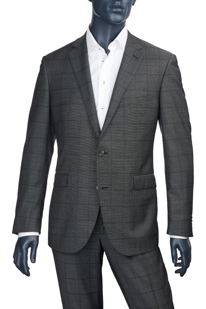 Men's Charcoal Windowpane Suit Paul Betenly