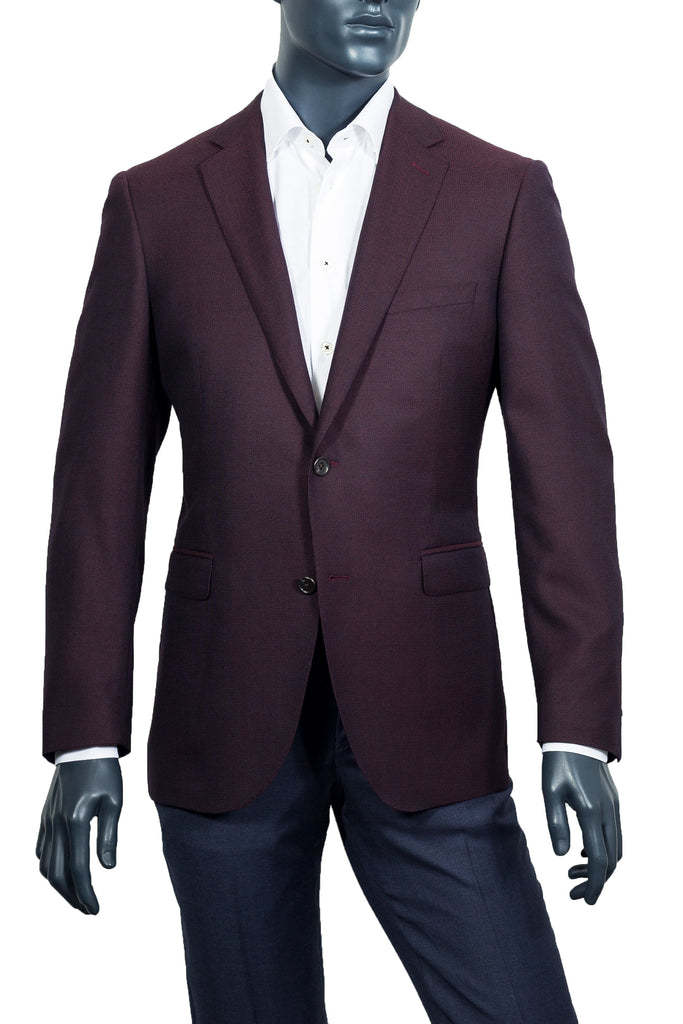 Men's Burgundy Sport Coat Blazer - Coppley