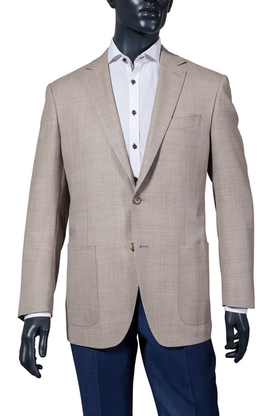 Men's Beige Sport Coat. Vancouver Men's Fashion
