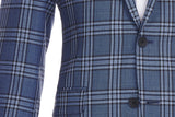 Haberdasher & Co. - Men's Blue Plaid Sport Coat - Paul Betenly - Vancouver