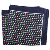 Tailor Smith Men's Handkerchief Floral Anchor Checked Polka Dot Printed Hankies Polyester Hanky Business Pocket Square 33x33 CM