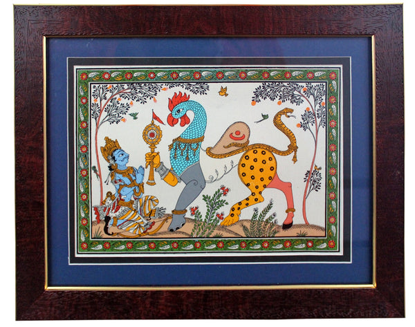 Traditional Orissa Pattachitra Art/ Arjuna - Navgunjara Theme