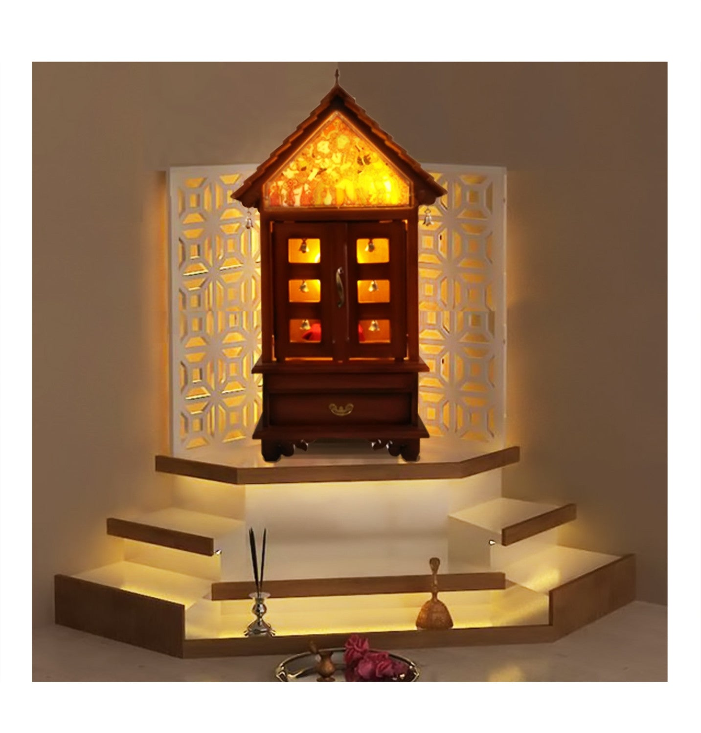 bf47baadb08 Pooja Mandirs Online Swasthy Sreekovil Home Decor Wooden Temple For  Devotional