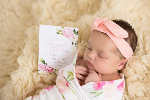 Matching Baby Wrap + Milestone Cards Set   |   The Hunny Blossom Stylish Baby Milestone Cards + Baby Announcement Baby Wraps + swaddles - - AfterPay - Free Shipping - lovepaperink.com.au