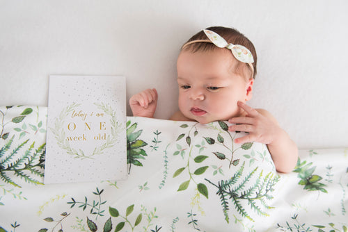Baby Milestone Cards   |   Enchanted Spring - Stylish Baby Milestone Cards + Baby Announcement Baby Wraps + swaddles. Global Shipping lovepaperink.com.au