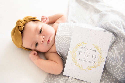 Baby Jersey Wrap & Topknot Set   |   Snowflake - Stylish Baby Milestone Cards + Baby Announcement Baby Wraps + swaddles. Global Shipping lovepaperink.com.au