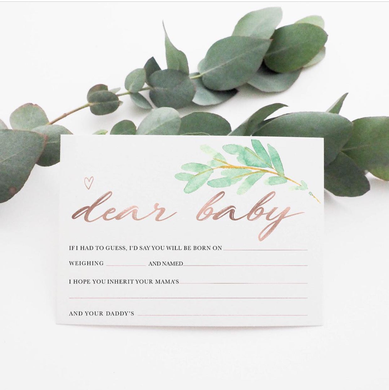 """Dear Baby..."" Keepsake Cards - Stylish Baby Milestone Cards + Baby Announcement Baby Wraps + swaddles. Global Shipping lovepaperink.com.au"