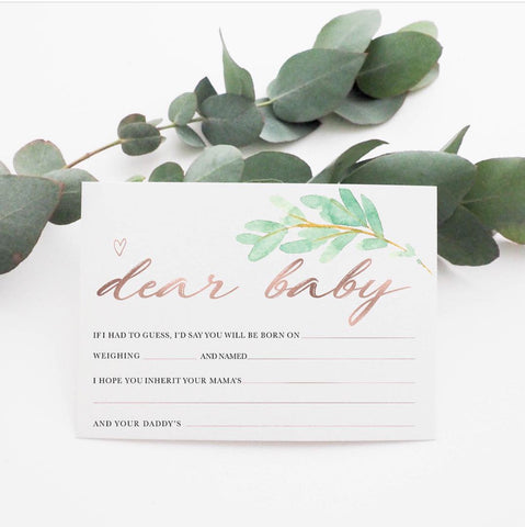 Baby Milestone Cards |  Luxe Collection |  Wild Fern