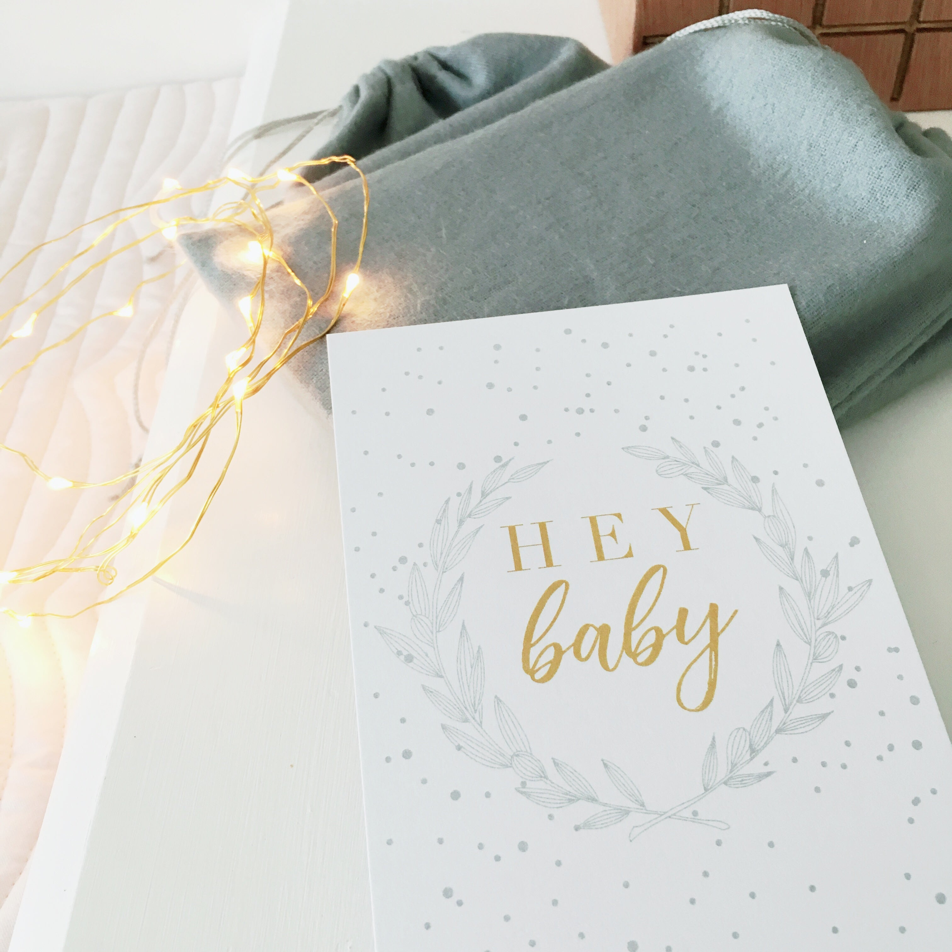 Baby Milestone Cards Luxe Collection Winter Snowflake