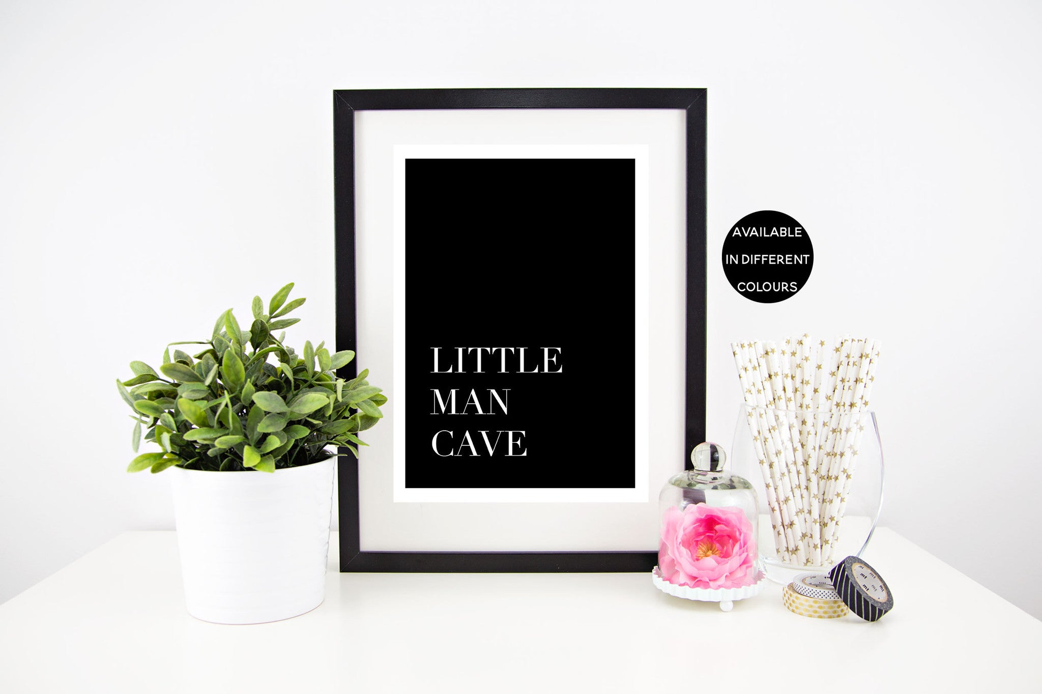 Little Man Cave - Different Colours Available Stylish Baby Milestone Cards + Baby Announcement Baby Wraps + swaddles - - AfterPay - Free Shipping - lovepaperink.com.au