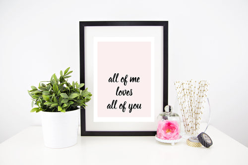 All Of Me Loves All Of You Stylish Baby Milestone Cards + Baby Announcement Baby Wraps + swaddles - - AfterPay - Free Shipping - lovepaperink.com.au
