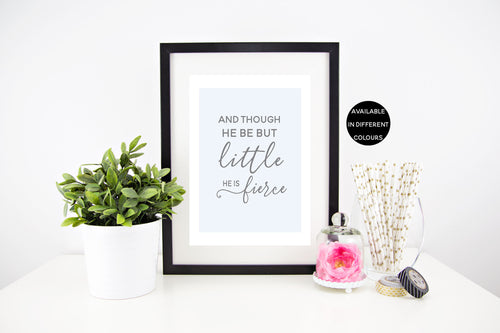 Little But Fierce Wall Print (Boys Version Also Available) - lovepaperink.com