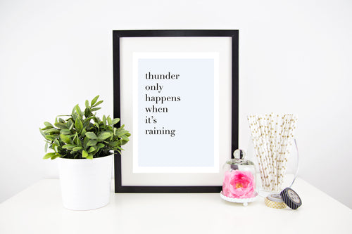 Thunder Only Happens When Its Raining - Stylish Baby Milestone Cards + Baby Announcement Baby Wraps + swaddles. Global Shipping lovepaperink.com.au