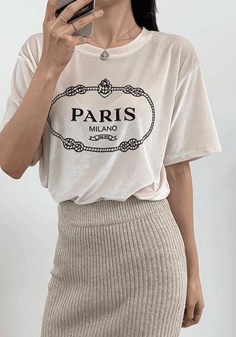 Milano And Paris Short Sleeve Tee