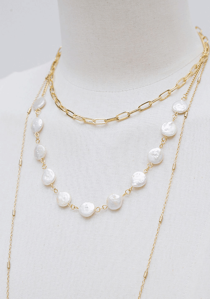 Deep Lakewater Pearl Necklace