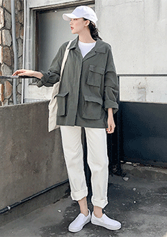 Linen Safari Jacket
