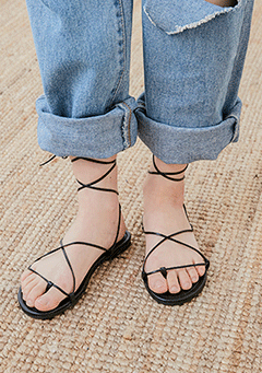 Natural Strap Shoes