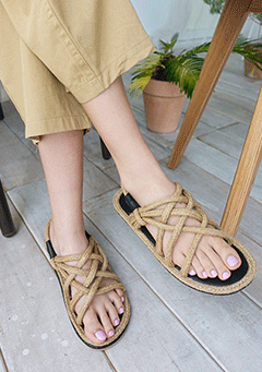 Straw Nature Sandal