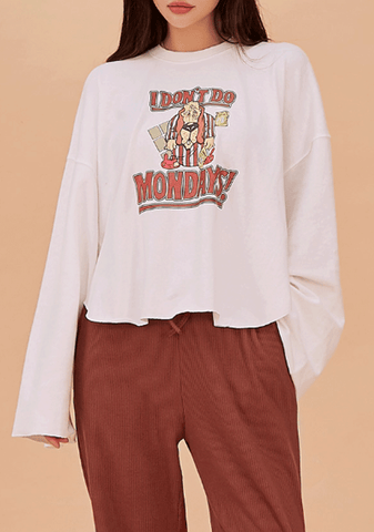Cute Monday Graphic Sweater