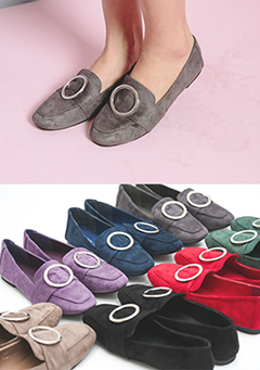 Everyday New Color Ring Buckle Loafer