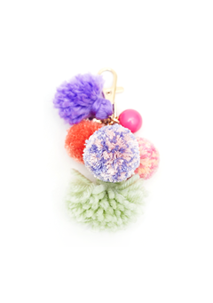 Pompom Colorful Key Ring