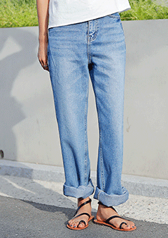 Wide Up Denim Pants