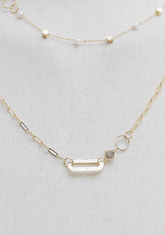 Multirow Gold Necklace