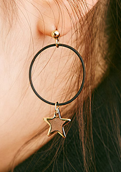 Hooped Star Earrings