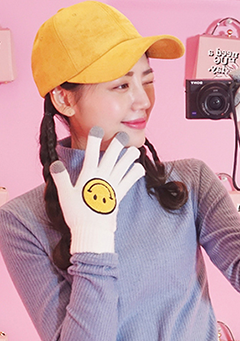 Smiley Face Gloves