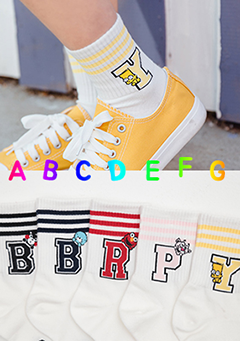 Playful Alphabet Socks