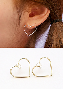 The Simple Heart Earrings
